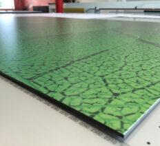 Print op geborsteld aluminium